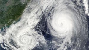 Cyclones-Typhoons-Tornadoes-Fujiwhara Effect